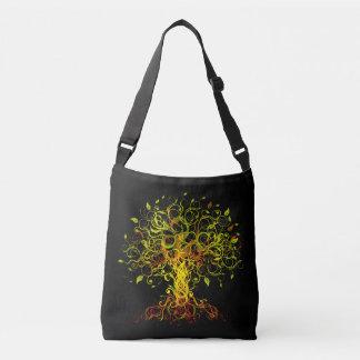 Tree Swirls Cross Body Bag