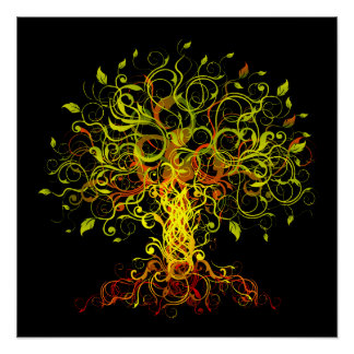 Tree Swirls Poster