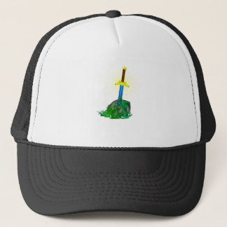 tree sword knife trucker hat