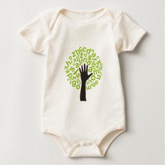 Tree the alphabet baby bodysuit