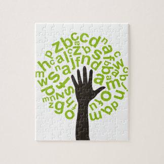 Tree the alphabet jigsaw puzzle