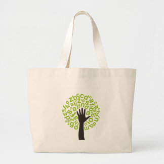 Tree the alphabet large tote bag