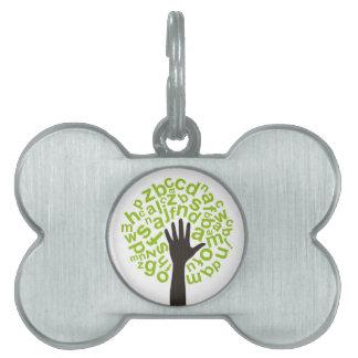 Tree the alphabet pet tag