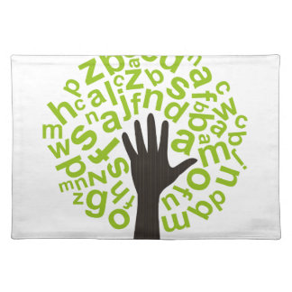 Tree the alphabet placemat
