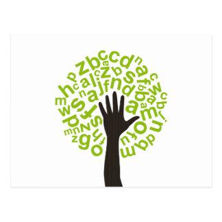 Tree the alphabet postcard