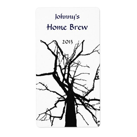 Tree Top Abstract Beer Label Shipping Label