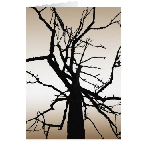 Tree Top Abstract Thank You Card