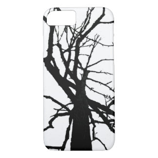 Tree Top Black and White Abstract iPhone 7 Case