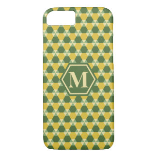 Tree Top Green/Gold Triangle-Hex Phone Case