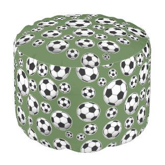 Tree Top Soccer Ball Pattern Pouf