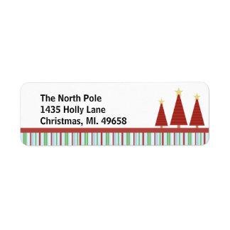 Tree Trio Holiday Return Address Labels