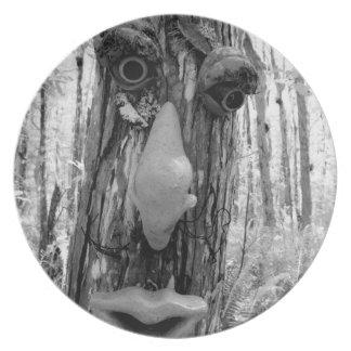 Tree troll on a Big Cypress tree. Party Plates