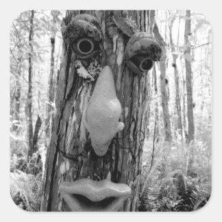 Tree troll on a Big Cypress tree. Square Sticker