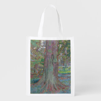 Tree Trunk, 1916 (oil on canvas) Reusable Grocery Bag