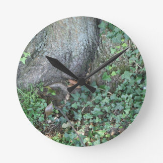 Tree trunk and ivy in forest wallclocks