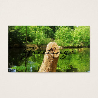 Tree Trunk Nature Photography Lake Park Business Card