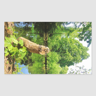 Tree Trunk Nature Photography Lake Park Rectangular Sticker