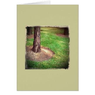 Tree Trunk Retro Card