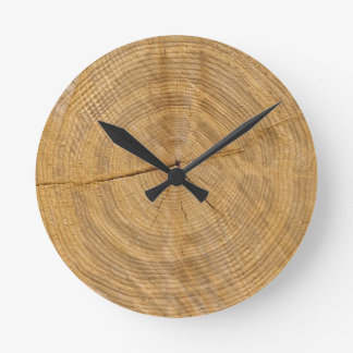 tree trunk round clock