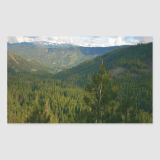Tree Valley Of Green Rectangle Stickers