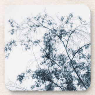 Tree Waves (Blue) Drink Coasters