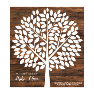Tree Wedding Guest Book Alternative   120 Leaves