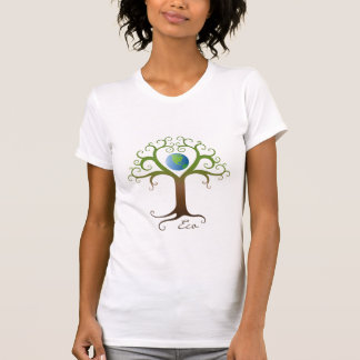 Tree with branches surrounding planet earth T-Shirt