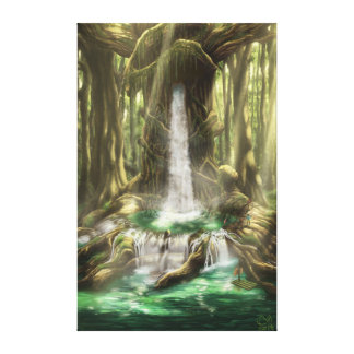 Tree with Cascade/Tree with waterfall Canvas Print