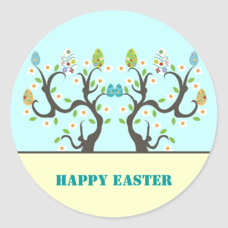 Tree with flowers and Easter eggs Stickers