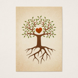 Tree with heart and roots