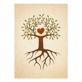 Tree with heart and roots pack of chubby business cards