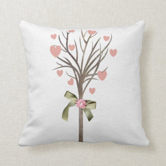Tree with hearts American MoJo Pillows Cushion