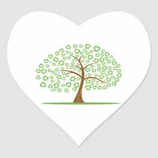 tree with recycle for leaves eco design.png stickers