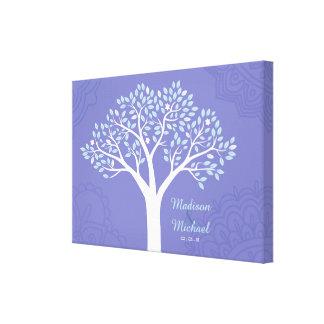 TREE WITH STARS Jewish Wedding Sign-In Board Canvas Print