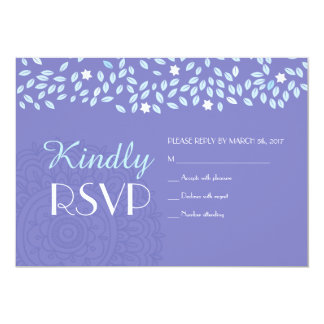 TREE WITH STARS WEDDING RSVP Reply Card
