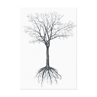 Tree without leaves canvas print