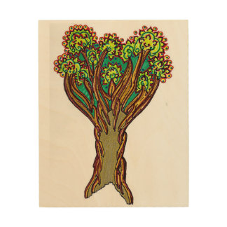 tree wood canvases