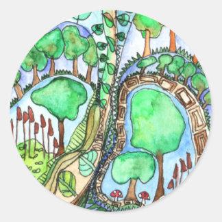 Treearium Round Sticker