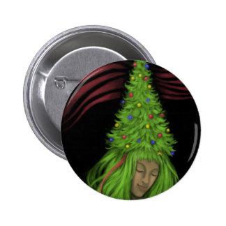Treehead Painting 6 Cm Round Badge