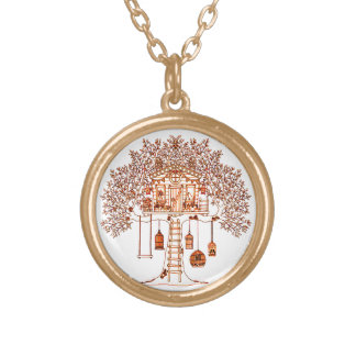 Treehouse Gold Plated Necklace