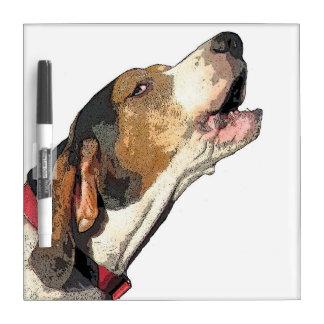 Treeing Walker Coonhound Art Dry Erase Board