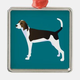 Treeing Walker Coonhound Basic Breed Customizable Metal Ornament