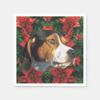 Treeing Walker Coonhound Christmas Party Paper Serviettes