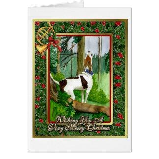 Treeing Walker Coonhound Dog Blank Christmas Card