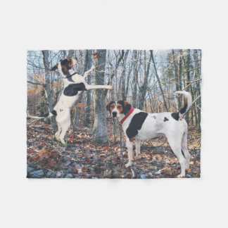 Treeing Walker Coonhound Dogs Woods Fleece Blanket
