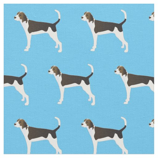Treeing Walker Coonhound Silhouette Tiled - Basic Fabric