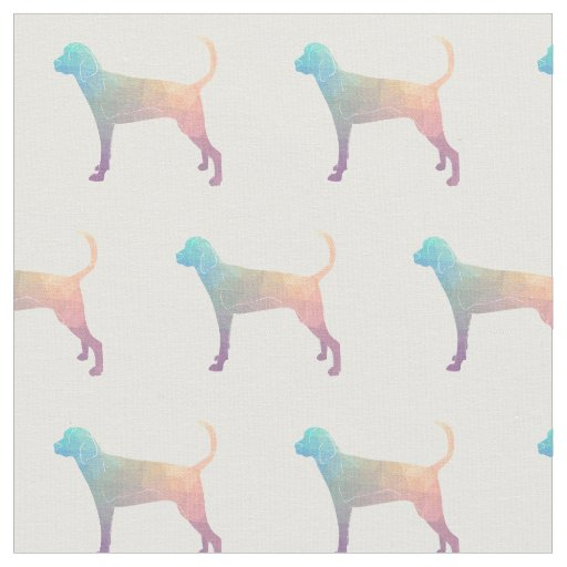 Treeing Walker Coonhound Silhouette Tiled - Pastel Fabric