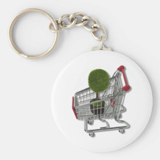TreeInShoppingCart083010 Basic Round Button Key Ring