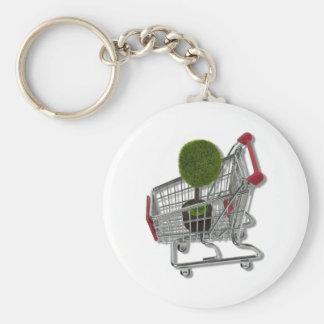 TreeInShoppingCart083010 Key Chains