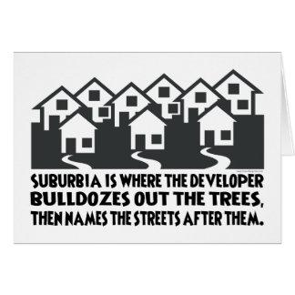 Treeless Suburbia Card
